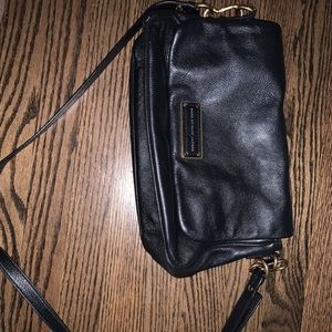 Black Leather Marc Jacobs Crossbody